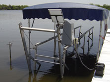 Aluminum Boat Lift Repair and Modifications on Belleville Lake