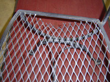 Wrought Iron Chair Broken Thin Mesh Bottom
