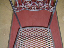 Wrought Iron Chair Finished with New Heavy Mesh Bottom