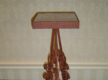 Wrought Iron Plant Stand With Rust Finish