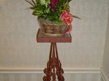 Wrought Iron Plant Stand with Flowers