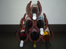 Wine Rack with Rust Finish